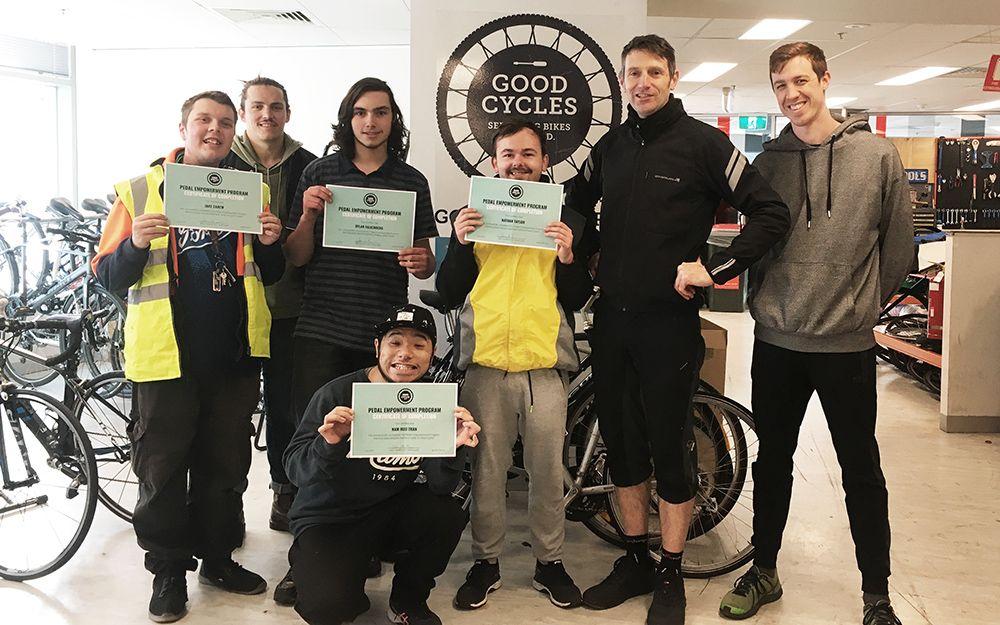 Pedal Empowerment Program participants