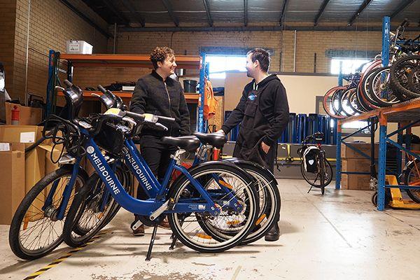 Nathan and Belinda at Good Cycles.