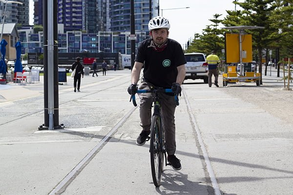 Nathan out Riding in Docklands