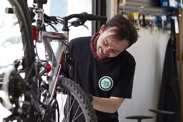 Nathan at the Good Cycles Hub