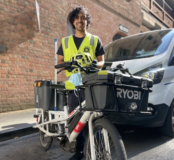 Good Cycles performing work on an ebike in Melbourne