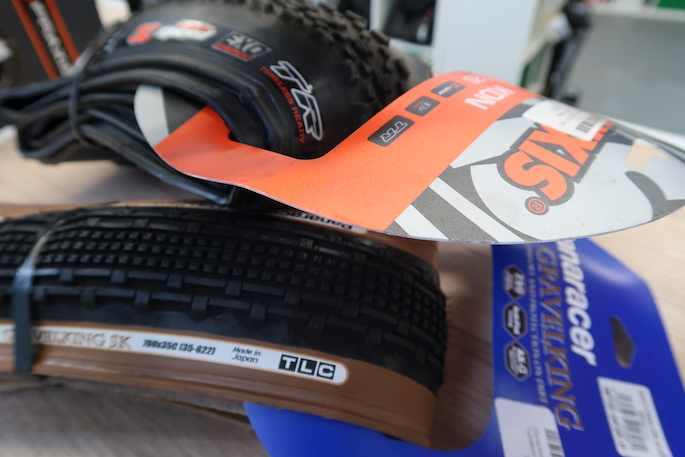 """Tubeless tyres with markings """"TLC"""" (Tubeless Compatible) and""""TR"""" (Tubeless Ready) all meaning these tyres will work tubeless."""