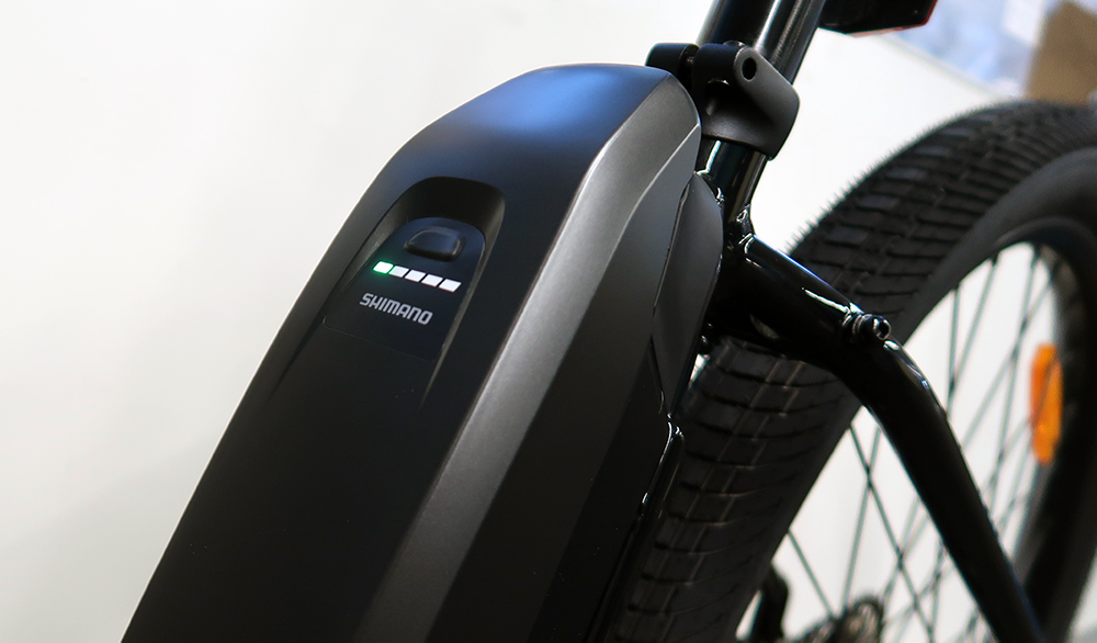eBike battery on charge