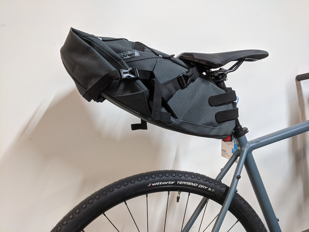 Seatpost mounted bag to carry gear on your bike