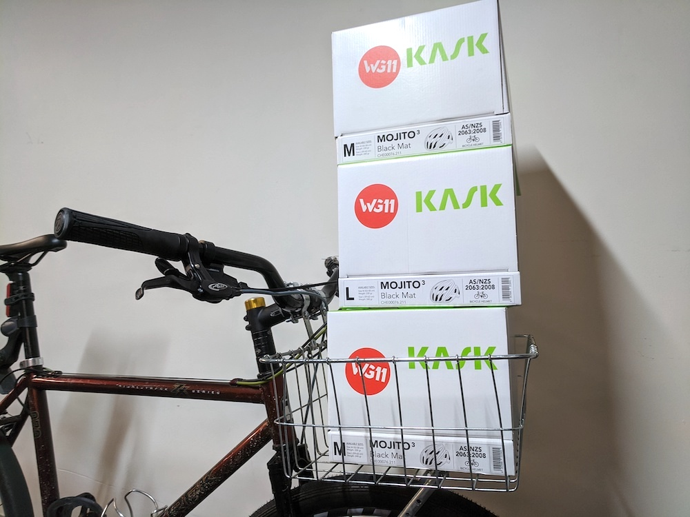Front basket to carry gear on your bike