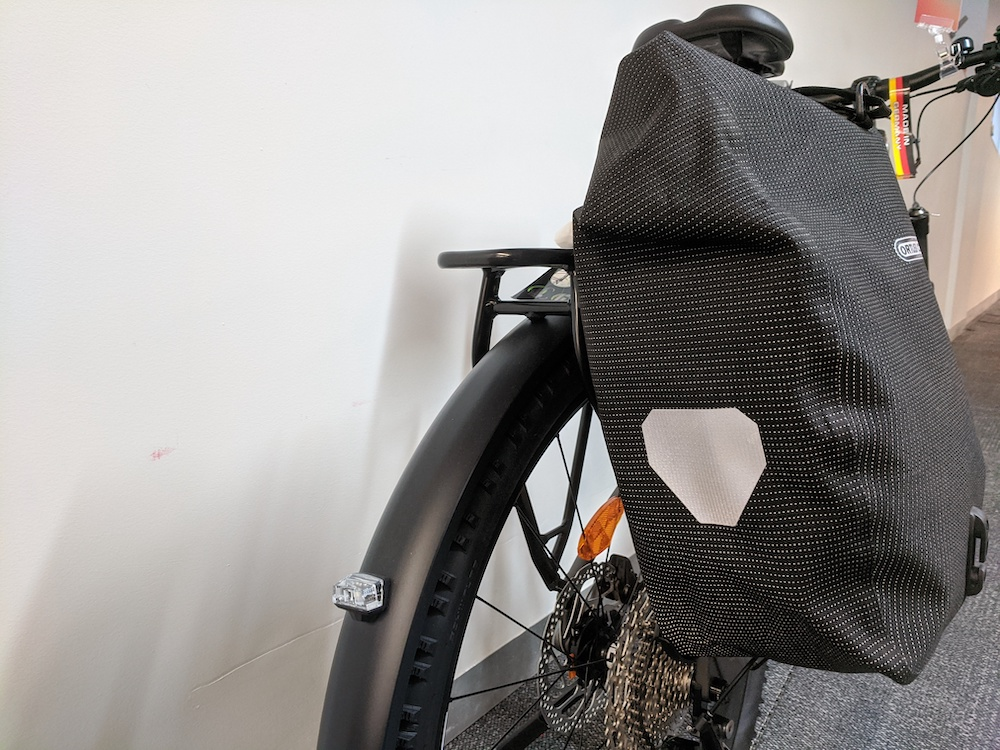 Mounted pannier  to carry gear on your bike